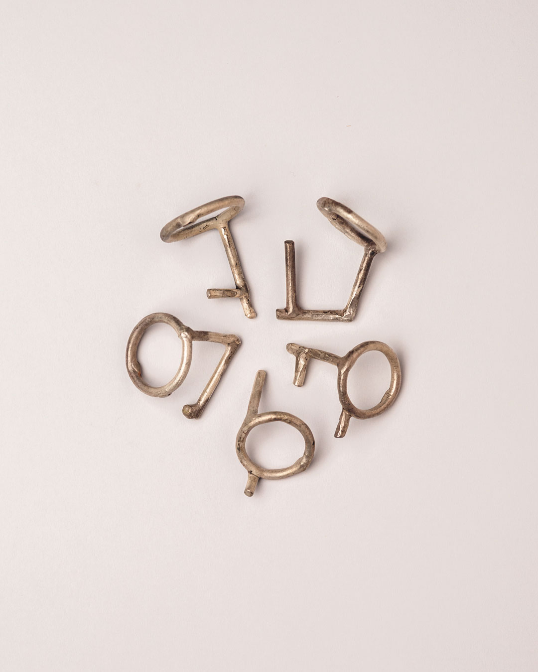 Antje Bräuer, untitled, 2018, rings; silver, 34 x 26 x 26 mm, €250 each