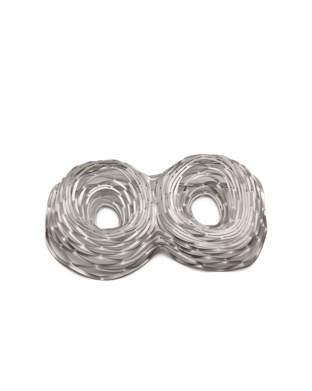 Antje Bräuer, untitled, 2010, brooch; titanium, gold, stainless steel, 125 x 211 x 44 mm, €1115