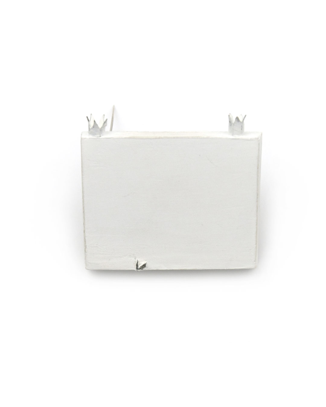Piret Hirv, Letters of Flora 6, 1999, brooch; silver, paint, 43 x 50 x 11 mm, €415