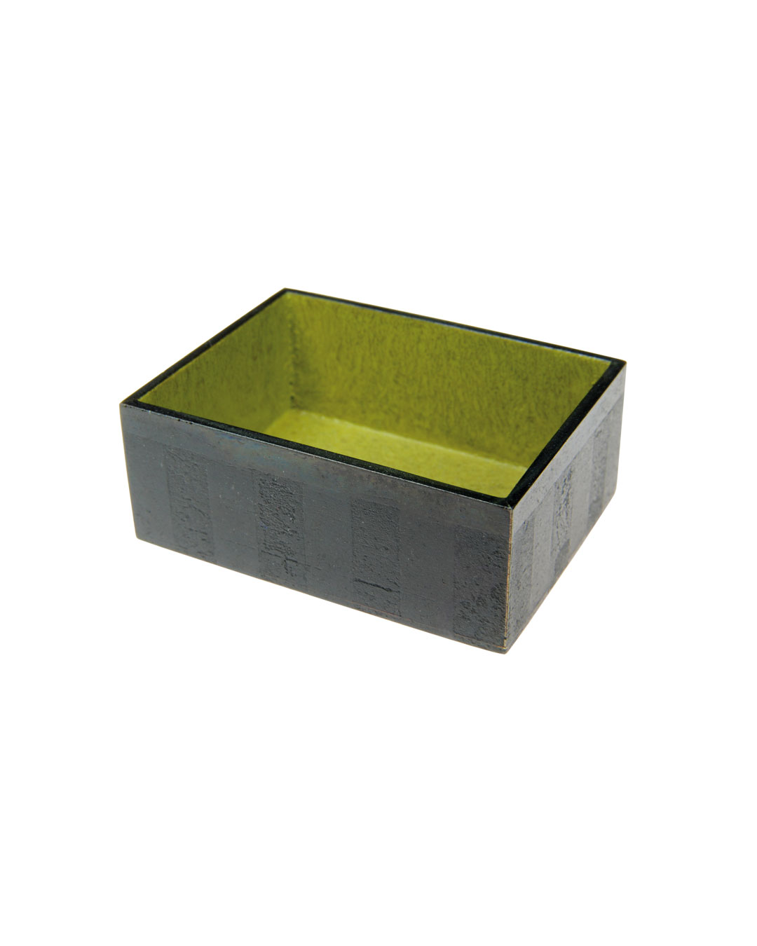 Tore Svensson, Box, 2009, brooch; etched and painted steel, 40 x 30 x 15 mm, €560