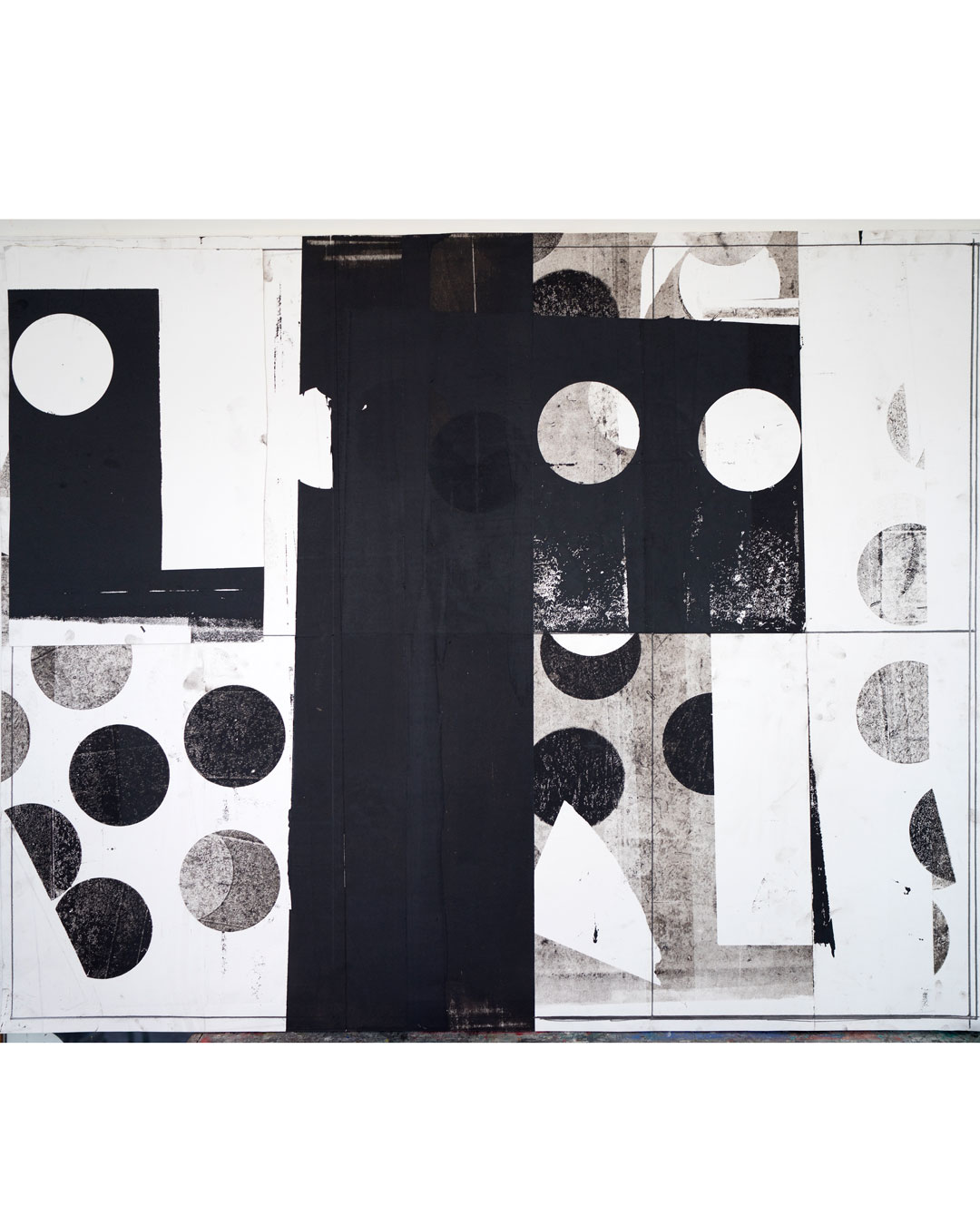 Piet Dieleman, untitled, 2020, collage, oil based monotype ink, pencil, acrylic binder on paper, 1290 x 1590 mm, €3270