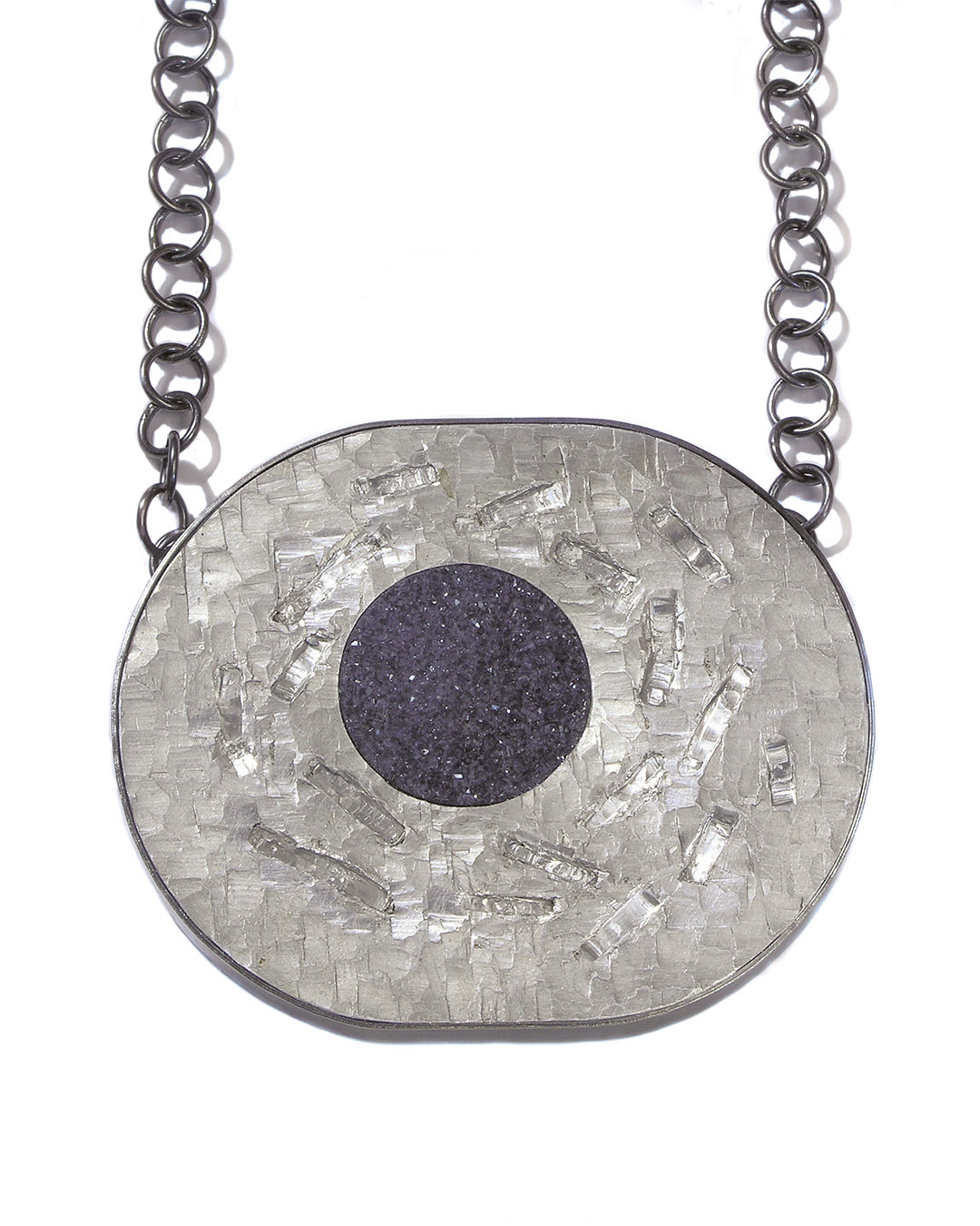 Sybille Richter, See (Lake), 2008, necklace; aluminium, 935 silver, agate, 70 x 60 x 7 mm, €880