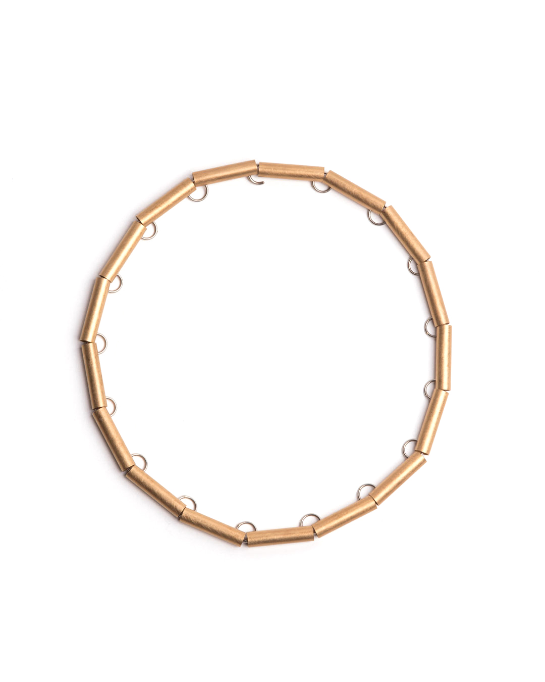 Herman Hermsen, Tube Chain, 1998, necklace; yellow gold, white gold, 435 x 8 x 6 mm, €7875