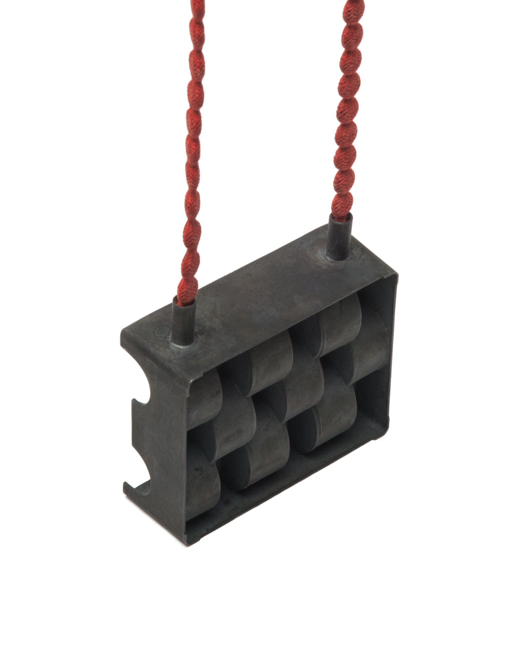 Winfried Krüger, untitled, 2009, necklace; oxidised silver, lead strapping, textile, element 80 x 75 mm, €2920