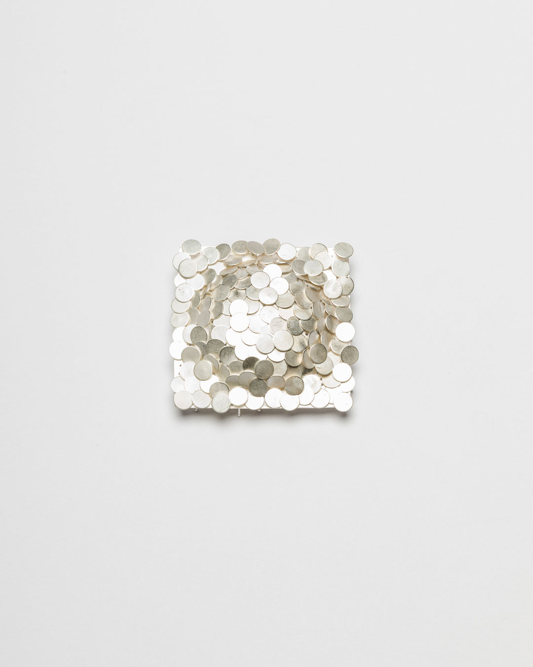 Christine Matthias, untitled, 2018, brooch; silver, 62 x 62 x 22 mm, €1825