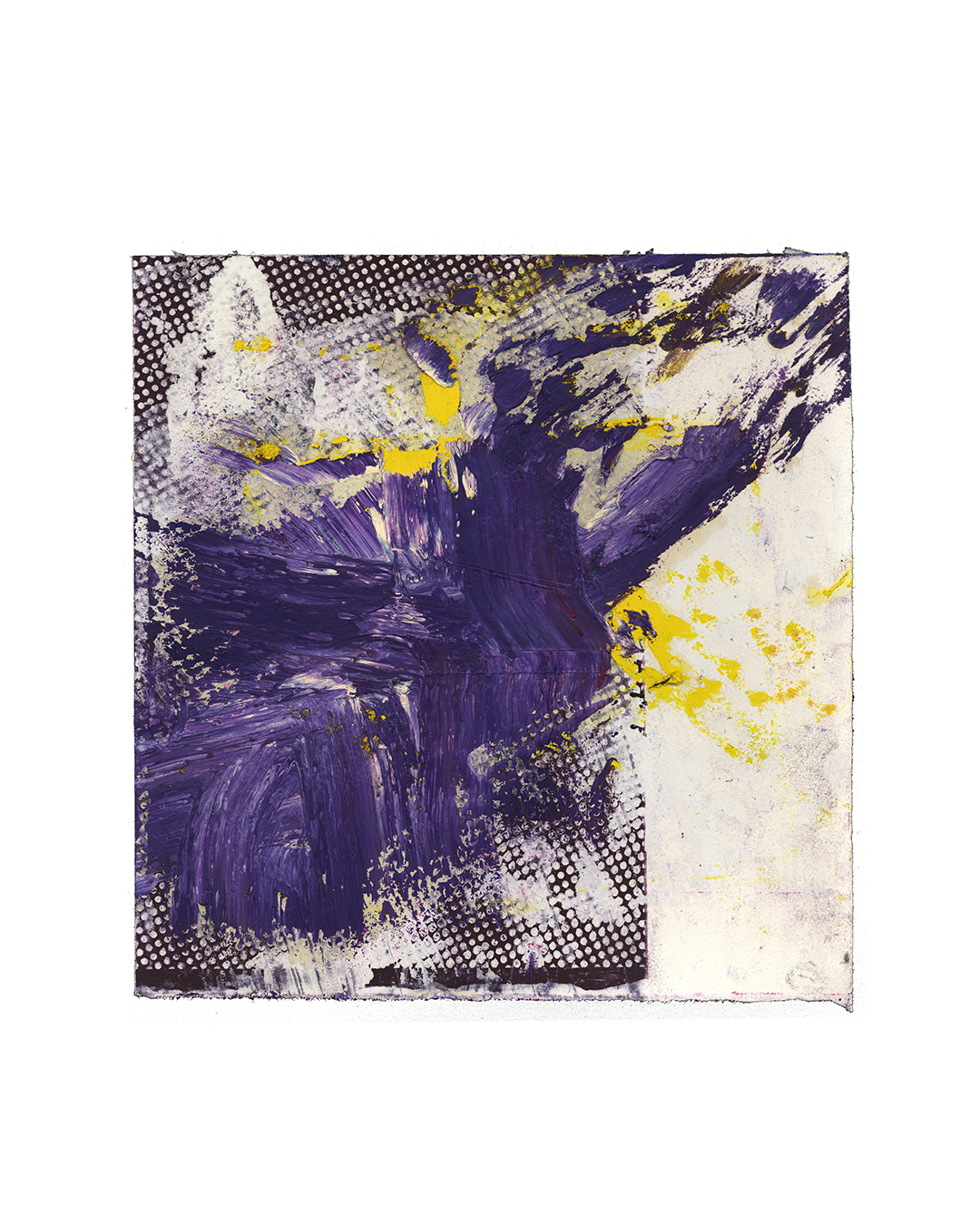 Piet Dieleman, untitled, 2020, painting, oil paint, tempera, acrylic paint, laser woodprint on paper, 290 x 280 mm, €930