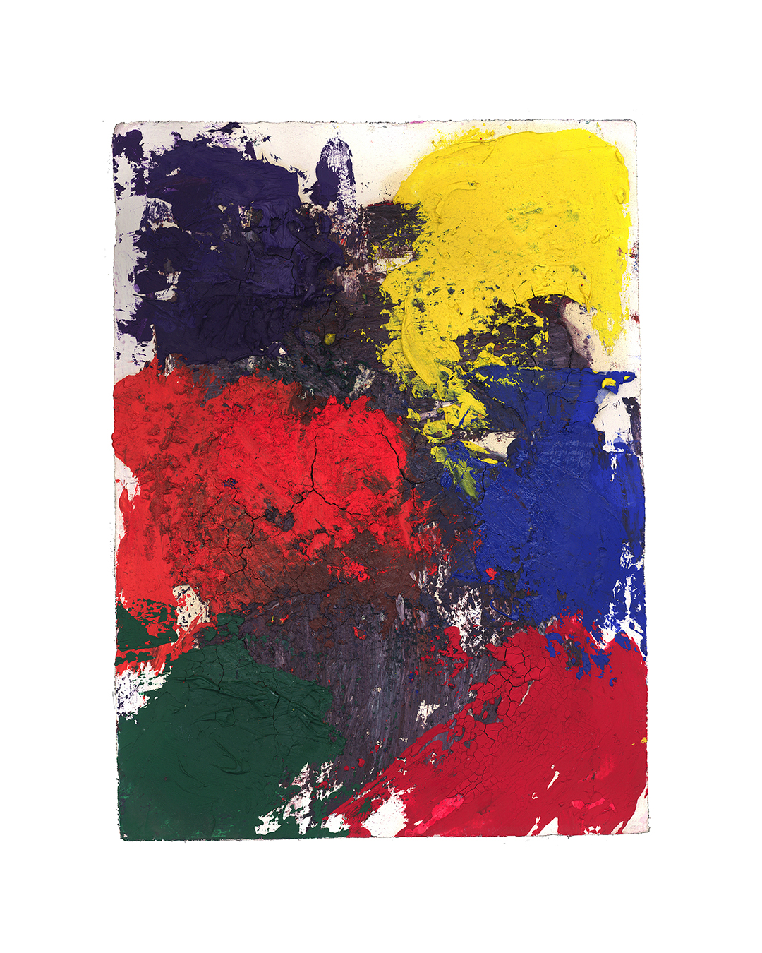 Piet Dieleman, untitled, 2020, painting, tempera, oil paint, acrylic paint on paper, 290 x 280 mm, €930