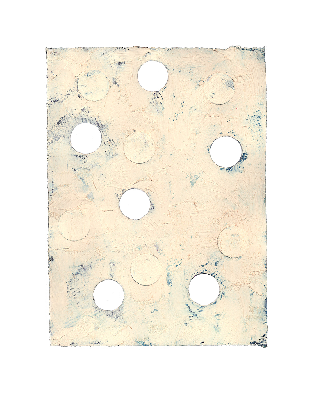 Piet Dieleman, untitled, 2020, painting, tempera paint, pigment on laser woodprint on paper, 390 x 285 mm, €930