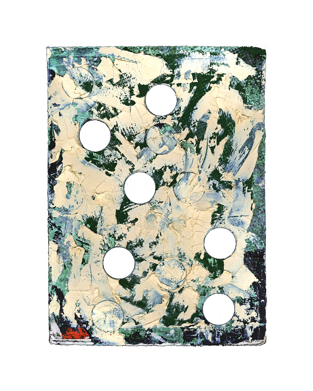 Piet Dieleman, untitled, 2020, painting, tempera, acrylic paint, pigment on laser woodprint, 395 x 280 mm, €930