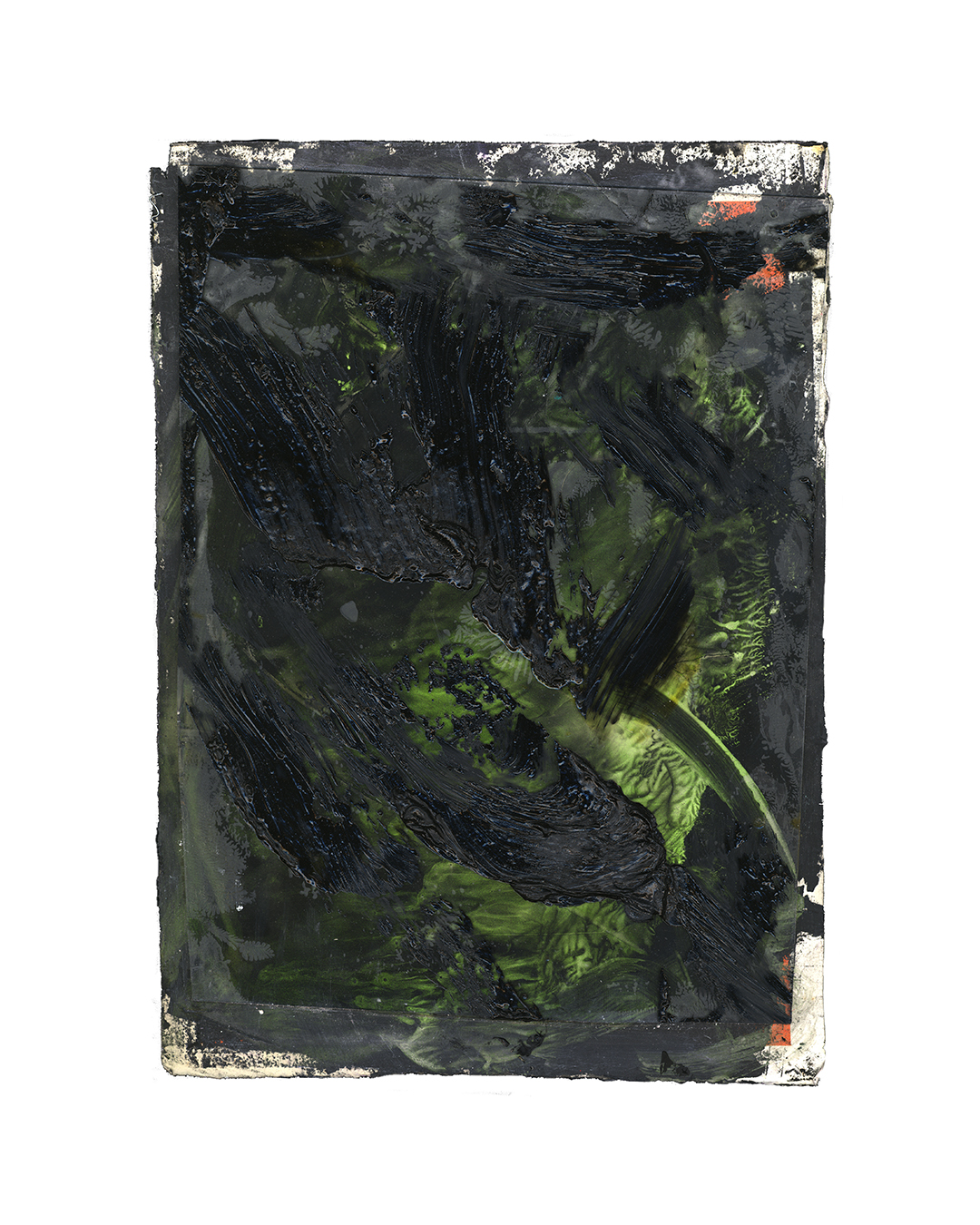 Piet Dieleman, untitled, 2020, painting, oil paint, pigment, glass, acrylic paint on paper, 395 x 285 mm, €930