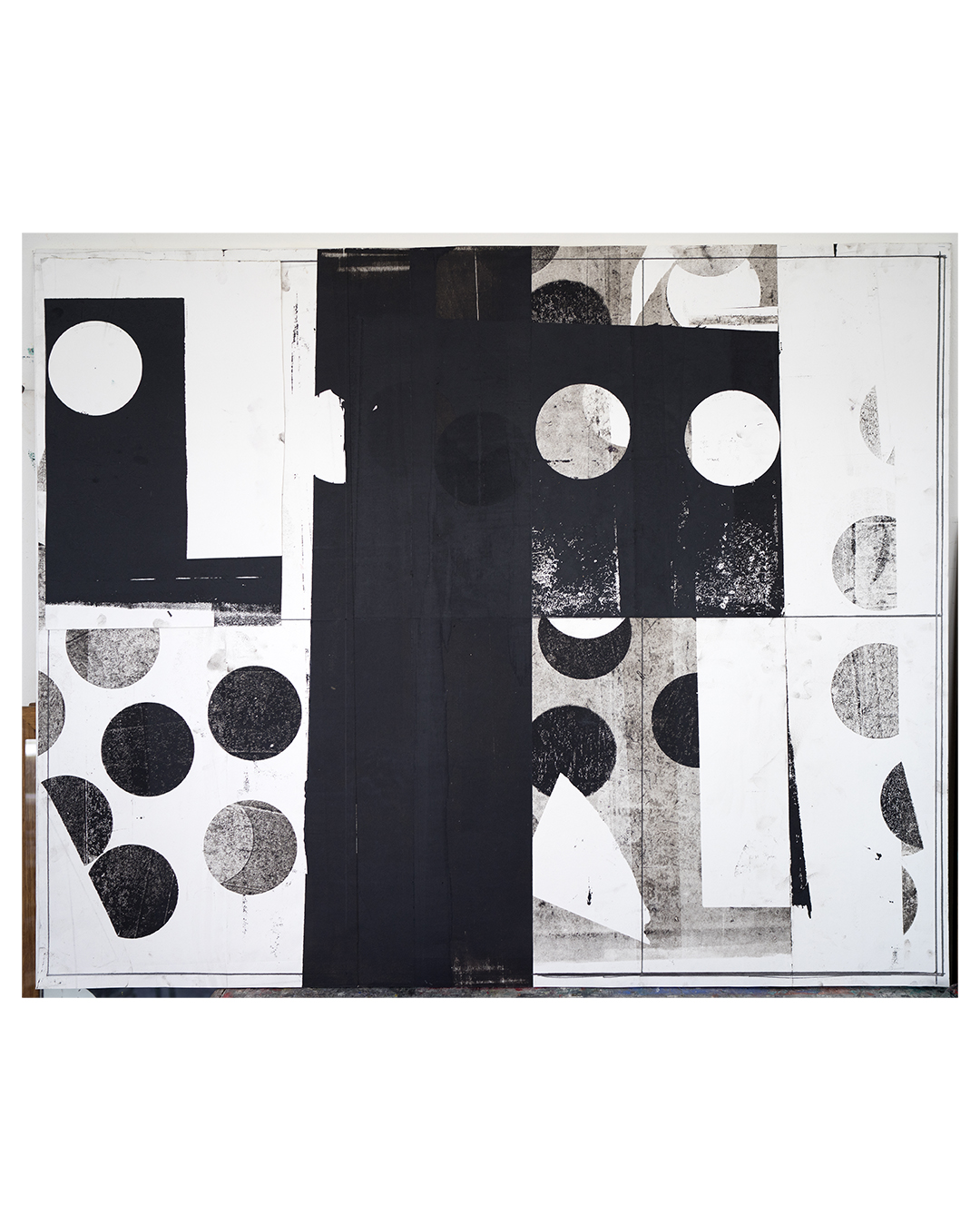Piet Dieleman, untitled, 2020, collage, oil-based monotype ink, pencil, acrylic binder on paper, 1290 x 1590 mm, €3270